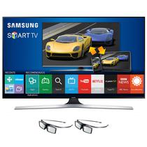 "TV Smart LED Samsung UN40J6400AG 40"" Full HD 3D + 2 Oculos"
