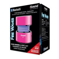 Caixa de Som Isound Fire Waves Rosa