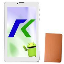 "Tablet Keen A88 8GB / Tela de 7"" / Cameras 2MP e VGA / com Capa - Dourado"
