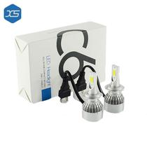 Lampadas LED Cob C6 H27 LED Car LED Luz do Farol do Carro Chip Hi-Lo