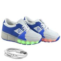 Tenis Gati LED Kids TXL-1003 Azul N32