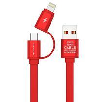 Cabo USB Micro/Lightning Pineng PN-304 com 1 Metro - Vermelho
