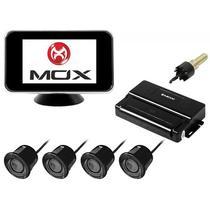 Sensor de Estacionamento Mox MO-CS202 de 4 Pecas para Ate 2.5 M + Tela - Preto