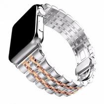 Pulseira 4LIFE de Aco Inoxidavel para Apple Watch - 42MM - Rose Gold