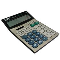 Calculadora DTC DT-850N com 12 Digitos - Champagne/Preta