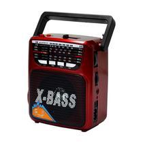 Radio Portatil FM/ AM/ SW Megastar RX-802BT com Bluetooth/ USB/ Lanterna - Vermelho