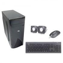 Gabinete Mtek D099B com Kit Teclado / Mouse / Speaker - Preto