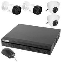 Kit CFTV V.Bras VB-HDCVI4700KIT DVR 4 CH + 2 Cameras Dome/2 Bullet (1MP/3.6MM)