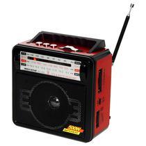 Radio Portatil FM/AM/SW Megastar RX-1405BT 500 Watts P.M.P.O com Bluetooth - Vermelho/Preto