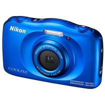 "Camera Nikon W-100 Wi Fi/Bluetooth/NFC de 13.2MP Lente Ninikkor LCD 2.7"" - Azul"