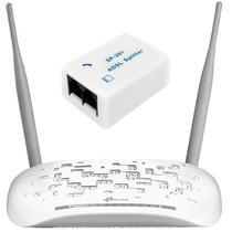 Roteador TP-Link TD-W8961N de 300MBPS Em 2.4GHZ/ADSL2+ Bivolt - Branco