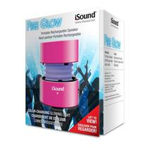 Caixa de Som Isound Fire Glow Rosa