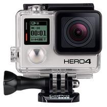 Camera de Acao Gopro Hero 4 Black CHDNH-B11 RB 12MP 4K com Wi-Fi e Bluetooth - Preta