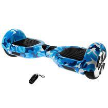 "Scooter Eletrico Audisat Smart Wheel TP-025 6.5"" com Speaker/Bluetooth + Bolsa - Azul Militar"