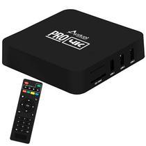TV Box Audisat Pro Wi-Fi com 8GB + 2GB Ram Os Android e Processador Amlogic S905 - Preto