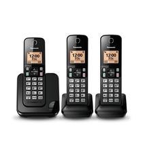 Telefone Sem Fio Panasonic KXT-GC353LAB 3BASE c/Bina