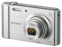 Câmera Digital Sony DSC W-800 20.1MP 5X Prata
