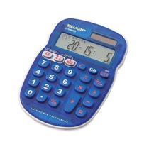 Calculadora Sharp EL-S10B-BL 8 Digitos Capa Protetora - Azul