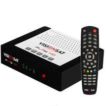 Receptor Vision Sat Play HD Iptv / Iks / SKS / Vod / 3 Tunners - Preto