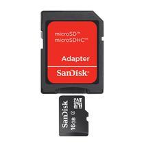 Cartao de Memoria Sandisk Micro SD Standard 16GB Con Adaptador SDSDQM-016G-B35A