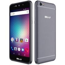 """Smartphone Blu Grand Max G110EQ Dual Sim 3G Tela 5.0"""" Cpu 4Core Cam. 8MP+8MP Cinza"""