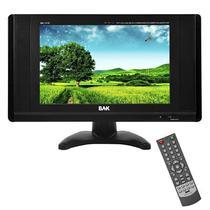 """Tela BAK BK-TFT-1110 TV e Monitor de 11"""" com VGA/USB/Slot SD/Av - Preta"""