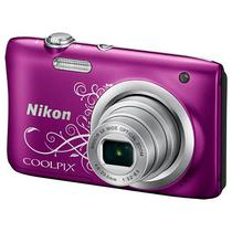 "Camera Digital Nikon Coolpix A100 Display 2.7"" 20.1MP Lente Nikkor Zoom 5X - Roxo"