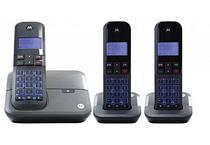 Telefone Motorola M4000-3 - Bina - 3 Bases - Bivolt - Preto