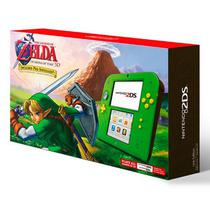 Console 2DS Verde c/Zelda Ocarina Of Time 3D