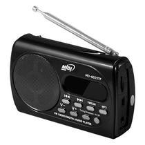 Radio Portatil Midi MD-6025TF 3 Watts com FM/Leitor Micro SD/Mini Jack 3.5 MM - Preto