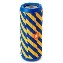 Caixa de Som JBL Flip 4 16W com Bluetooth/Auxiliar Bateria 3000 Mah - Azul/Amarelo