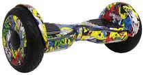 """Scooter Eletrico Freego W3S Balance Wheel Roda de 10"""" com Bolsa - Amarelo Colorido"""