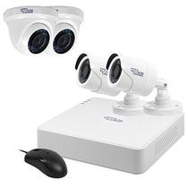 Kit de Vigilancia Vizzion VZ-KIT0804 DVR + 4 Cameras 8CANAIS HD Tvi 720P - Branco