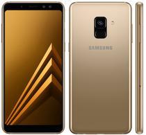 "Smartphone Samsung Galaxy A8+ SM-A730F 32GB/4GB Lte Dual Sim 6.0"" Cam.16MP/8MP+16MP-Dourad"