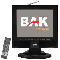 "Tela de 12"" BAK BK-TFT-1220TV USB/VGA/SD/A.V - Preto"
