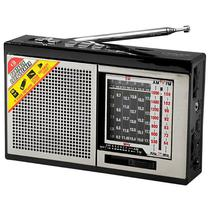 Radio Portatil AM/FM/SW 1-6 Satellite AR-308BT 2 Watts RMS Bluetooth - Preto/Prata