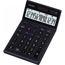 Calculadora Compacta Casio JS-140TVS 14 Dig Retrctil Heavy Duty Preto