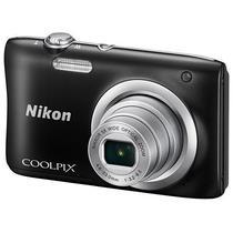 "Câmera Digital Nikon Coolpix A100 Display 2.7"" 20.1MP Lente Nikkor Zoom 5X - Preta"