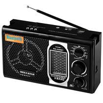 Radio Portatil FM/ AM/ SW Megastar RX-339BT com Bluetooth/ 8 Bandas/ USB Bivolt - Preto