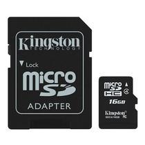Cartao de Memoria Kingston Micro SDHC 16GB Classe 4 c/ Adaptador