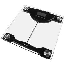 Balanca Digital para Peso Corporal Megastar CR3320 para Ate 180 KG - Preta/Transparente