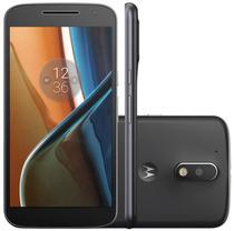 "Smartphone Motorola Moto G4 Plus XT1642 16GB Lte Dual Sim Tela 5.5"" Cam.16MP+5MP-Preto"