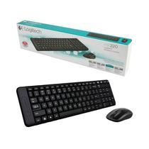 Teclado + Mouse Logitech MK220 (920-004430) Espanol Preto