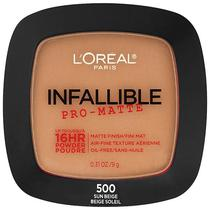 Po Facial L'Oreal Paris Infallible Pro-Matte Powder 9 G - 500 Sun Beige