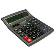 Calculadora DTC DT-886 com 12 Digitos - Cinza/Preta