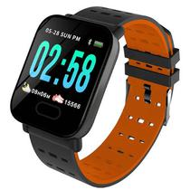 """Smartwatch Midi MD-A6 para Atividades Fisicas, Tela 1.3"""", 180MAH, Bluetooth - Preto e Laranja"""