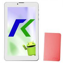 Tablet Keen A88 8GB / Tela de 7EQUOT; / Cameras 2MP e VGA / com Capa - Rosa