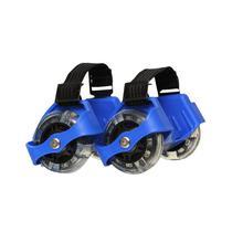 Patins Adaptado com Rodas de LED Azul