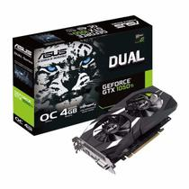 Placa de Vídeo Asus Nvidia 4GB Geforce DUAL-GTX1050TI-O4G GDDR5