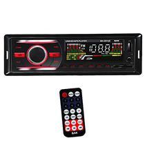 Toca Radio Automotivo BAK BK297UD com USB/SD/Auxiliar/FM - Vermelho